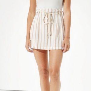 NWOT AEO Linen Stripe Highwaist Mini Skirt